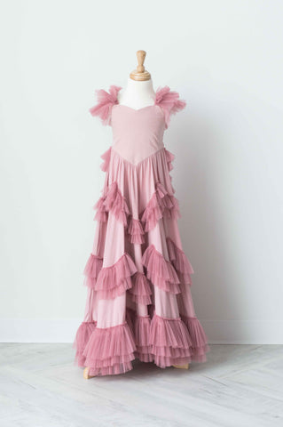 Dollcake Sweetly In The Trees Frock In Dusty Pink