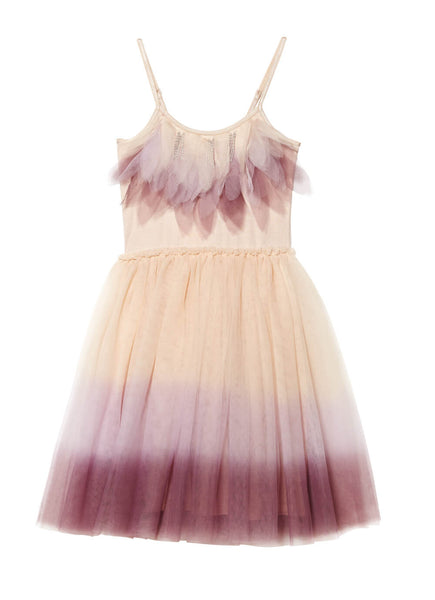Mysterious Wings Tutu Dress in Mink/Plum