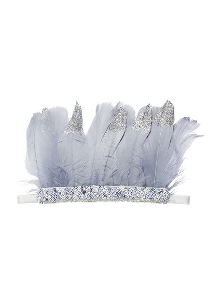 Tutu Du Monde Other Worldly Feather Headband in Storm Cloud