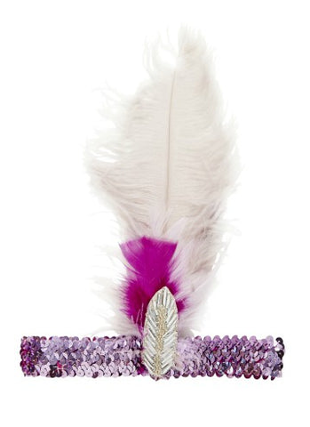 Tutu Du Monde Whimsical Feather Headband in Cloud
