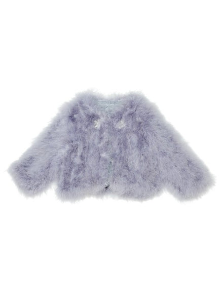 Tutu Du Monde Lavender Bloom Faux Fur Coat In Shadow