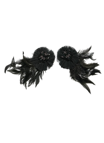 Tutu Du Monde Raven Wing Clip Pair In Black available for rent from The Borrowed Boutique.