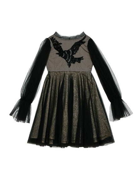 Tutu Du Monde Raven Wings Black girls dress available for rent from The Borrowed Boutique.