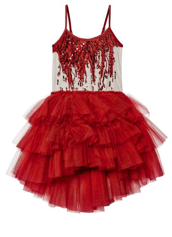 Tutu Du Monde Angel Tears Tutu Dress In Blood Red.