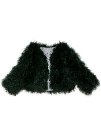 Tutu Du Monde Evija Marabou Jacket In Black. Available for rent from The Borrowed Boutique.