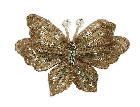 Tutu Du Monde Butterfly Hair Clip in Gold available for rent from The Borrowed Boutique.