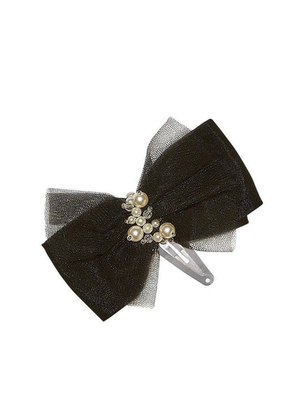 Tutu Du Monde Lost Pearl Hair Clip in Noir available for rent from The Borrowed Boutique.