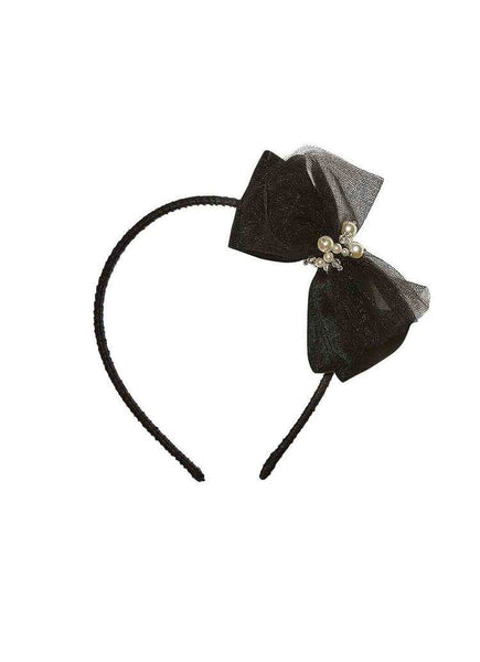 Tutu Du Monde Lost Pearl Headband in Noir available for rent from The Borrowed Boutique.