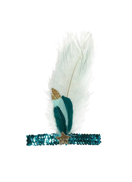 Tutu Du Monde Mermaid Tears Feather Headband in Mermaid available for rent from The Borrowed Boutique.