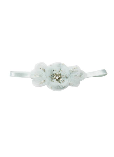 Tutu Du Monde Pansy Headband in Frost available for rent from The Borrowed Boutique.