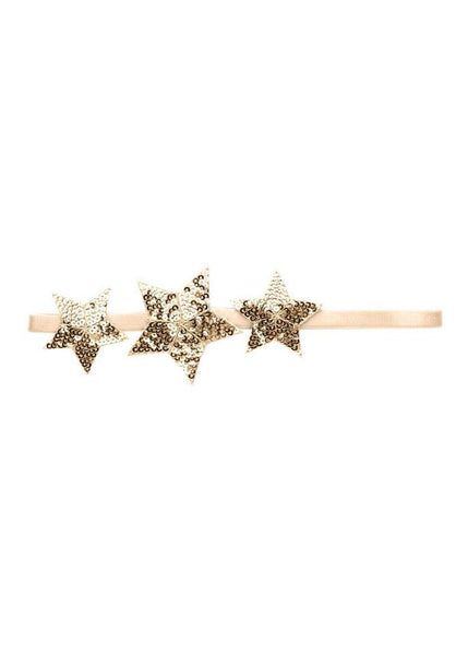 Tutu Du Monde Shooting Star Headband with Gold Star and Cream Headband
