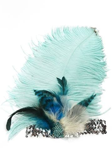 Tutu Du Monde Songbird Headband in Silver, Turquoise, and Azure available for rent from The Borrowed Boutique.