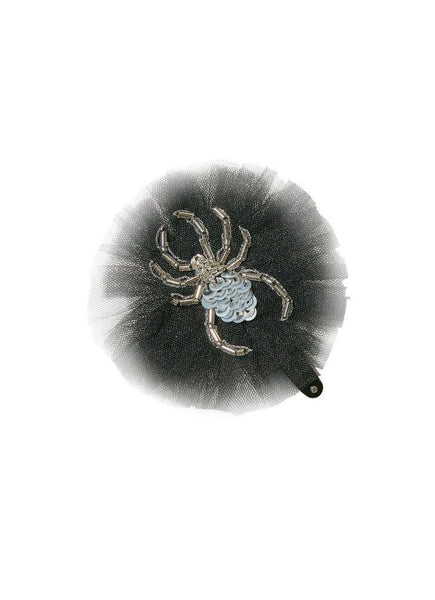Tutu Du Monde Spooky Spider Hair Clip in After Dark available for rent from The Borrowed Boutique.