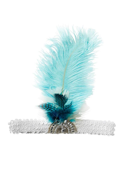 Tutu Du Monde Wind Calls Feather Headband in Mermaid available for rent from The Borrowed Boutique.