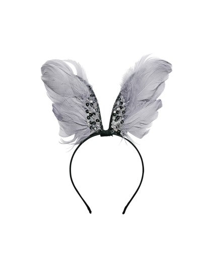 Tutu Du Monde Raven Winged Headband In Silverlining