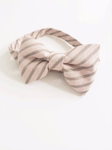 The Posh Society Dapper Bow Tie in Blush and Taupe available for rent from The Borrowed Boutique.