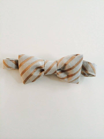 The Posh Society Dapper Bow Tie in Duck Egg and Taupe available for rent from The Borrowed Boutique.