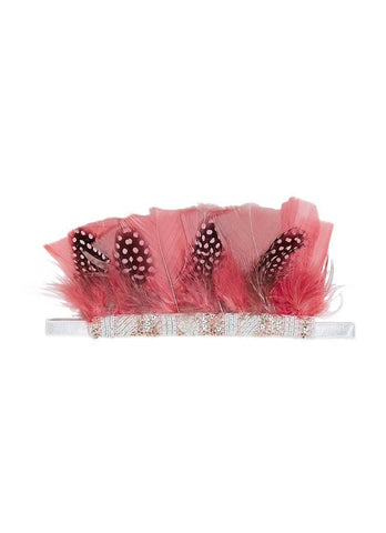 Tutu Du Monde Crowning Feather Headband in Blush available for rent from The Borrowed Boutique.