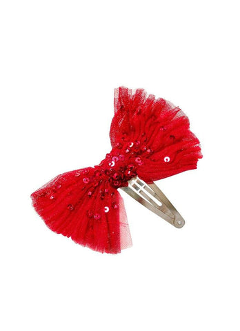 Tutu Du Monde Crystal Jubilee Hair Clip in Scarlet available for rent from The Borrowed Boutique.