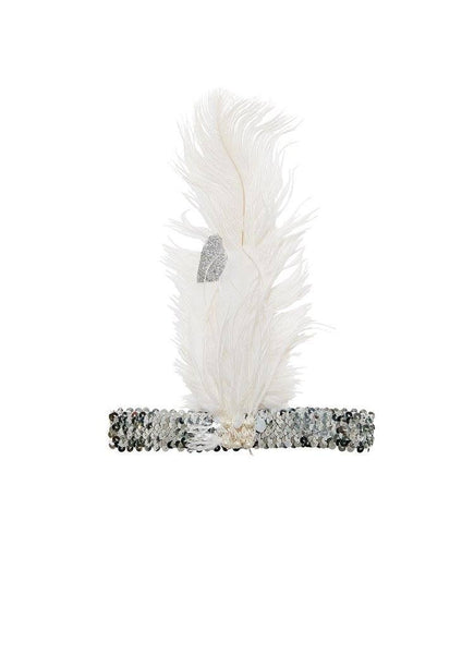 Tutu Du Monde Kingdom Keepers Feather Headband in Milk and Silver available for rent from The Borrowed Boutique.