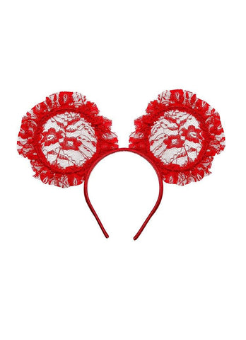 Tutu Du Monde Mini Me Headband in Scarlet available for rent from The Borrowed Boutique.