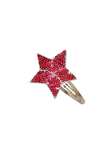 Tutu Du Monde Shooting Star Hair Clip in Scarlet available for rent from The Borrowed Boutique.