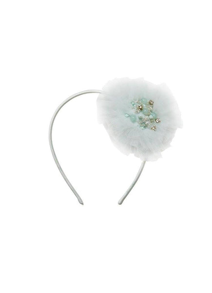Tutu Du Monde Snow Gems Headband in Raindrop available for rent from The Borrowed Boutique.