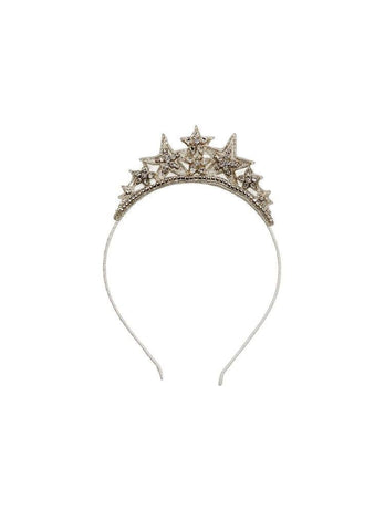 Tutu Du Monde Stardust Crown Headband in Silver available for rent from The Borrowed Boutique.