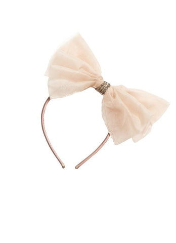 Tutu Du Monde Alice Bow Silk Organza Headband in Spice available for rent from The Borrowed Boutique.