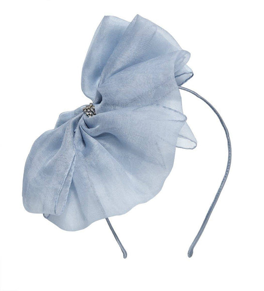Tutu Du Monde Alice Bow Silk Organza Headband in Storm Cloud available for rent from The Borrowed Boutique.
