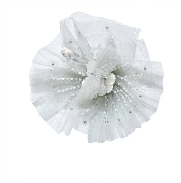 Tutu Du Monde Angel Cake Hair Clip in Whisper available for rent from The Borrowed Boutique.