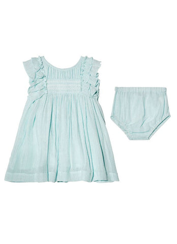 Tutu Du Monde BÉBÉ Sweet Rosie Dress In Aqua Glaze