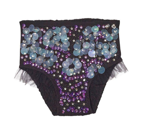 Tutu Du Monde Black Magic Shorts in Black and Purple available for rent from The Borrowed Boutique.