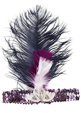 Tutu Du Monde Bluejay Feather Headband in Blue and Purple available for rent from The Borrowed Boutique.