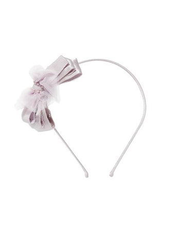 Tutu Du Monde Bow Tales Headband In Violet Veil available for rent from The Borrowed Boutique.