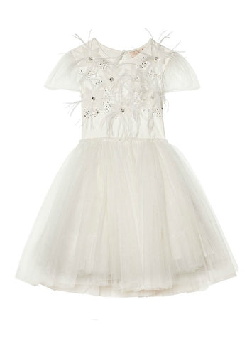 Tutu Du Monde Camellia Hearts Tutu Dress In Milk