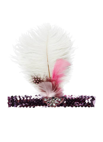 Tutu Du Monde Charmer Feather Headband in Dahlia available for rent from The Borrowed Boutique.