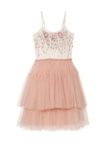 Tutu Du Monde Coral Carousel Tutu Dress in Milk/Rosewood available for rent from The Borrowed Boutique.