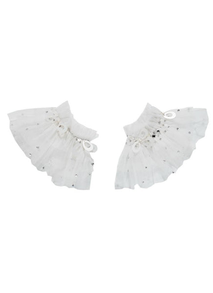 Tutu Du Monde Crystallised Wrist Cuffs In Milk available for rent from The Borrowed Boutique.