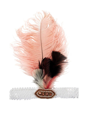 Tutu Du Monde Dancing Diva Feather Headband in Marshmallow available for rent from The Borrowed Boutique.