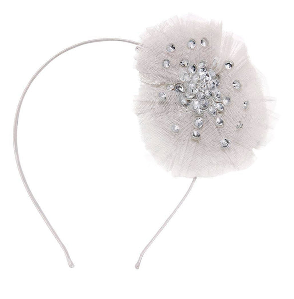 Tutu Du Monde Dusky Daze Headband in Silver available for rent from The Borrowed Boutique.