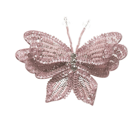 Tutu Du Monde Enchanted Butterfly Hair Clip in Blush available for rent from The Borrowed Boutique.