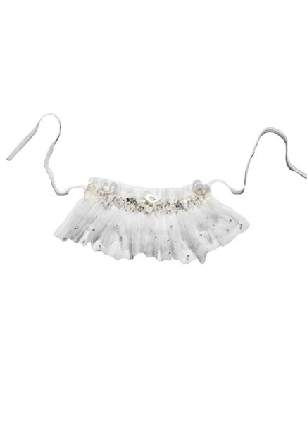 Tutu Du Monde Entrancing Tulle Choker In Milk available for rent from The Borrowed Boutique.