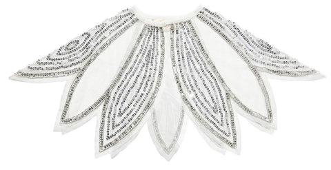 Tutu Du Monde Ethereal Cape in Silver available for rent from The Borrowed Boutique.