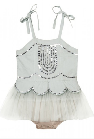 Tutu Du Monde Ever After Onesie in Sea Foam available for rent from The Borrowed Boutique.