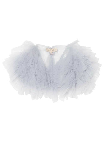 Tutu Du Monde Flouncy Ruffle Shrug In Haze. Available for rent from The Borrowed Boutique.