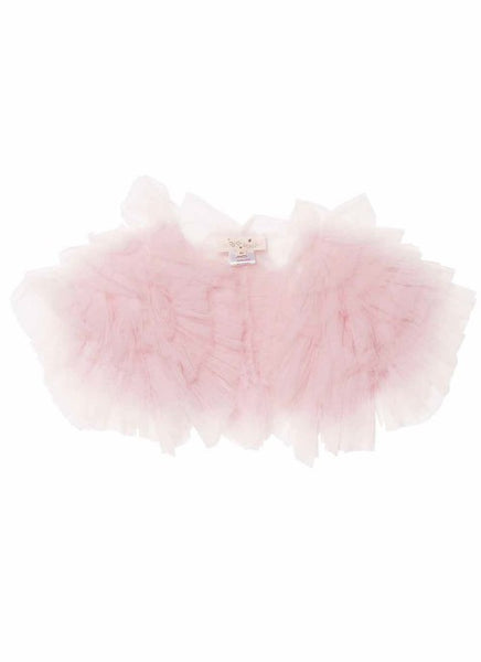 Tutu Du Monde Flouncy Ruffle Shrug In Strawberry Mousse