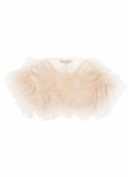 Tutu Du Monde Flouncy Ruffle Shrug In Tea Rose