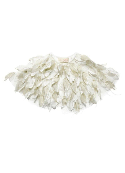 Tutu Du Monde Flutter Cape in Milk/Gold available for rent from The Borrowed Boutique.