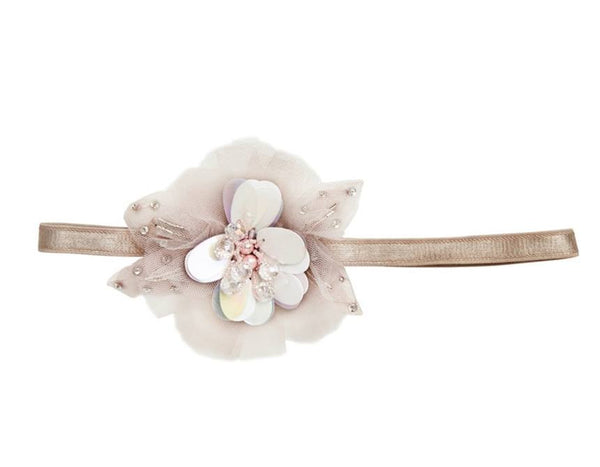 Tutu Du Monde Full Bloom Headband in Smoke available for rent from The Borrowed Boutique.